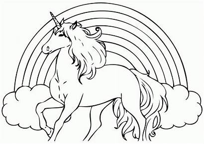 Coloring Unicorn Pages Realistic Popular