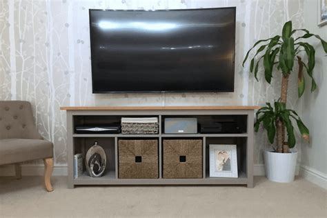 hemnes console table restyled  tv unit ikea hackers