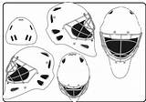 Goalie Hockey Helmet Gardien Sides sketch template