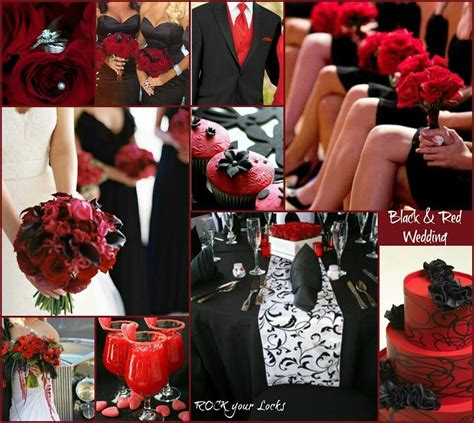 red and black weddings wedding decor and ideas pinterest