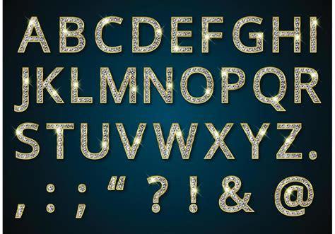 golden alphabet  diamonds vector    vectors clipart graphics