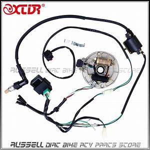 2017 Complete Electrics Kick Start  50cc 125cc  Magnetic Stator Coil Cdi  Ignition Coil Spark
