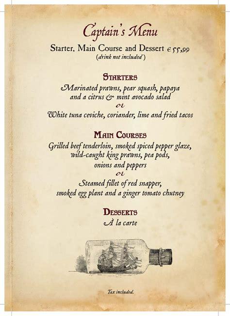 captain jacks menu dlp town square disneyland paris
