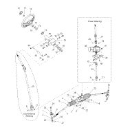 1823812 polaris shaft steering epas lower 147 67 2wheelpros