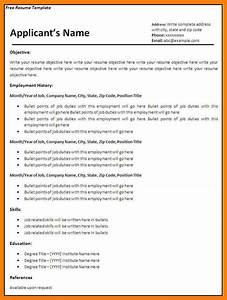 Blank Resume Resume Example Free Blank Basic Resume