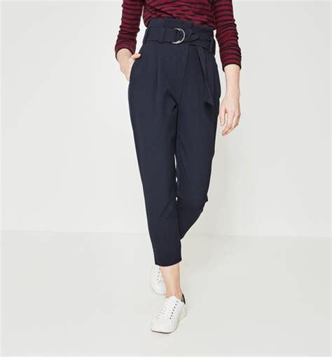 pantalon de cuisine femme pantalon taille haute femme marine pantalons femme