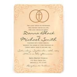 christian wedding invitations encircled cross religious wedding invitations 5 quot x 7 quot invitation card zazzle