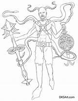 Squid Line Mutant Coloring Outline Printable Digital Would Link sketch template