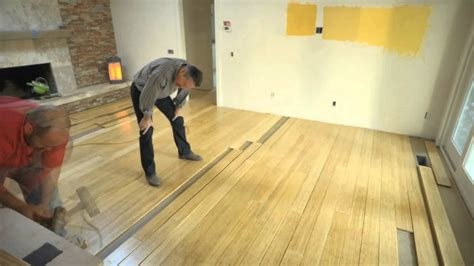 how to install bamboo hardwood floors pre finished bamboo floor installation youtube