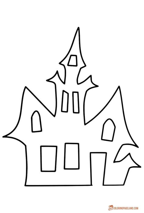 haunted house template house coloring pages downloadable and printable images