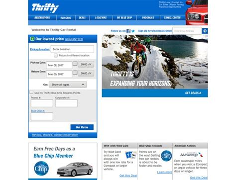 Rental Thrifty Car Coupons