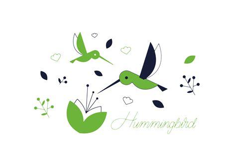 hummingbird vector   vector art stock