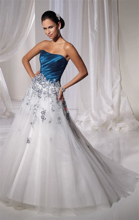 denim strapless dress blue and white wedding dresses a trusted wedding source