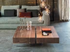 couchtisch nussbaum italienisch rechteckig designer paolo cattelan mit füßen aus - Wohnzimmer Italienisch