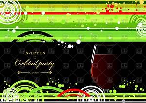 Invitation Layouts Free Invitation For Cocktail Party Wine Glass On Green Black