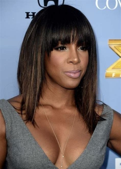 10 new black hairstyles with bangs colorful and sassy