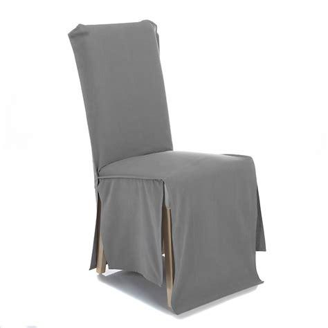 housse de chaise alinea housse de chaise en coton gris foncé text chaises