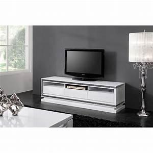 Meuble Tv Blanc Laqué : object moved ~ Teatrodelosmanantiales.com Idées de Décoration