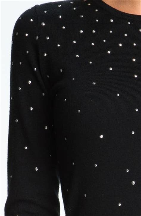 michael michael kors studded sweater dress petite  black