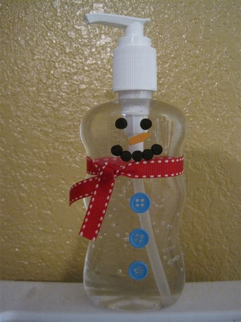 christmas craft ideas for teachers crafts and crap snowman sanitizer