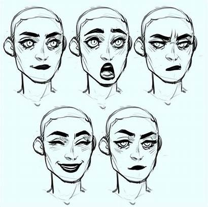Drawing Reference Face Character Expressions Facial Sketches