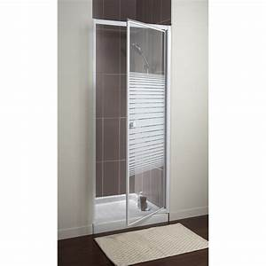 Porte douche accordeon best paroi de douche pliante for Castorama porte douche pliante