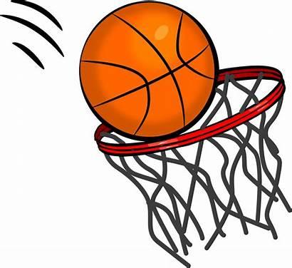 Basketball Clipart Hoop Clip Through Going Advertisement