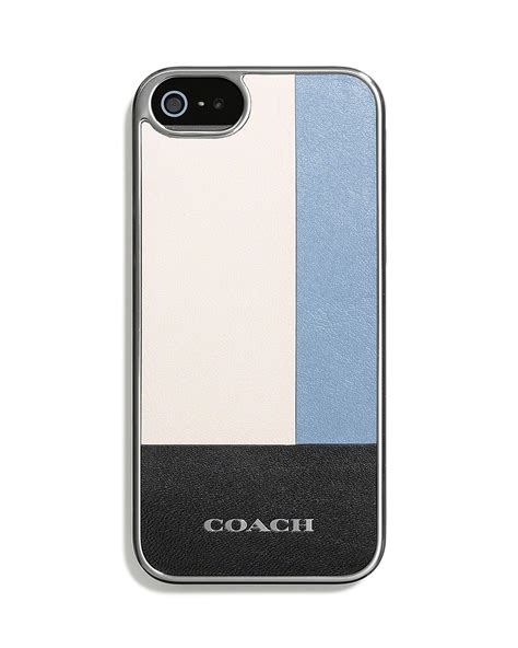 coach iphone 5 coach iphone 5 5s in colorblock inlaid leather