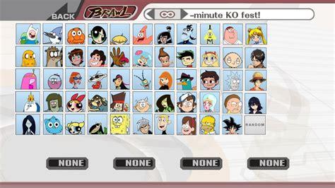 Cartoon And Anime Smash Bros Brawl By Angrybirdsguy2001 On