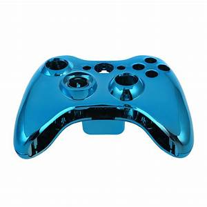 10X (Blue Chrome Wireless Controller Replacement Shell ...