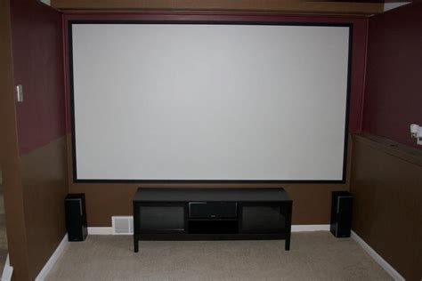 diy projector painted screen home theater ideas