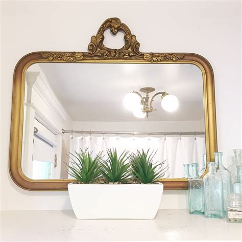 Antique Bathroom Mirror by Antique Mirror Gold Gilt Frame Bathroom Mirror Ornate Wood