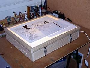 Tablette Lumineuse Dessin : fabriquer votre table lumineuse ~ Nature-et-papiers.com Idées de Décoration