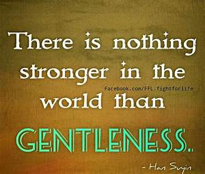 Gentleness Quotes And Reflections. QuotesGram