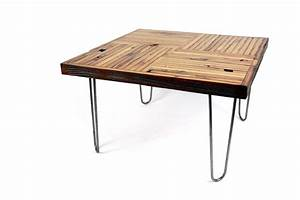 hand crafted 39block parquet39 coffee table reclaimed With parquet reclaimed wood coffee table
