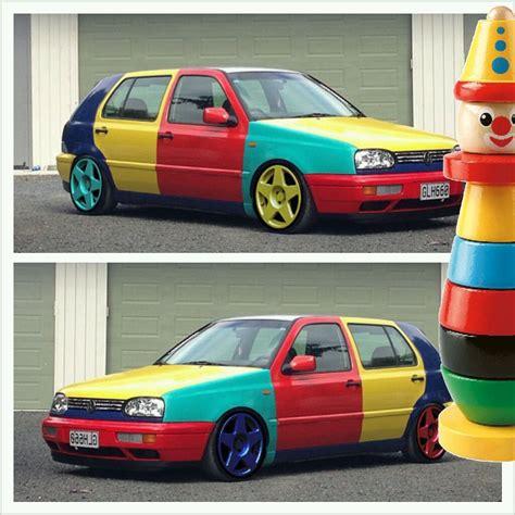volkswagen harlequin dream car vw golf harlequin f 225 ra m 253 ch snů pinterest