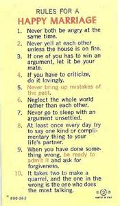 Rules Happy Marriage Quotes