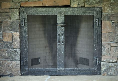 Forged Fireplace Doors morris l
