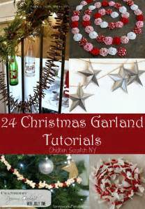 24 holiday garland tutorials