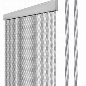 Rideaux De Porte Exterieur : rideau de porte gris blanc retaillable 205x56 cm camping car caravane ~ Dode.kayakingforconservation.com Idées de Décoration