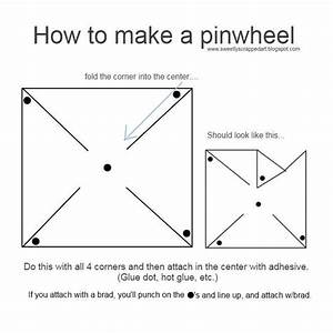 how to make a pinwheel step by step - Google Search | Busy ...