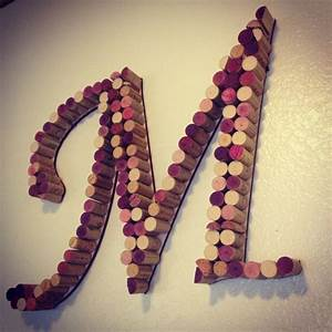 27 best cork letters cork decor images on pinterest With wine cork crafts letters