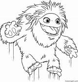 Abominable Coloring Yeti Everest Printable Coloriage Easy Getcoloringpages Printables Compagnie Colouring Cartoon Jumping Yi sketch template