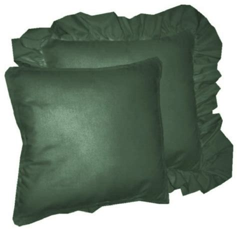 Solid Hunter Green Colored Accent Pillow with Removable