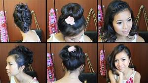 Cute Hairstyles for Short Medium Hair Tutorial YouTube