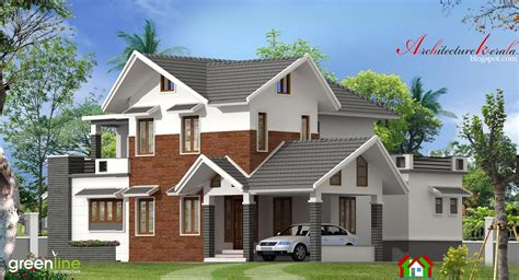 bhk modern style kerala house elevation architecture kerala