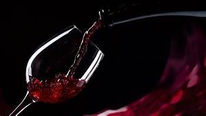 1366x768 Glass, Black Background, Red, Wine, Bottle, Pours ...