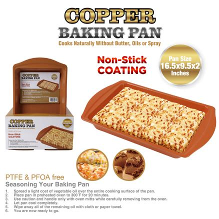 copper baking pan  stick coatingptfe pfoa  al