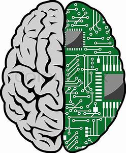 Brain With Motherboard As A Computer