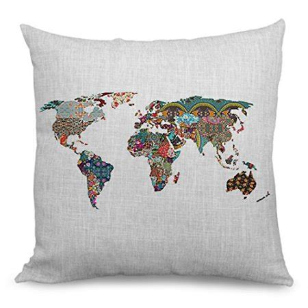 World Map Throw Pillow ⋆ Travel Candi